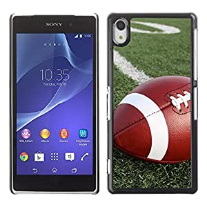 Graphic4You American Football Sports Design Hard Case Cover for Sony Xperia Z2