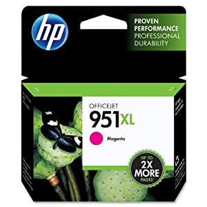 HP 951XL Magenta High Yield Original Ink Cartridge (CN047AN) by Hewlett Packard Inkjet Printers