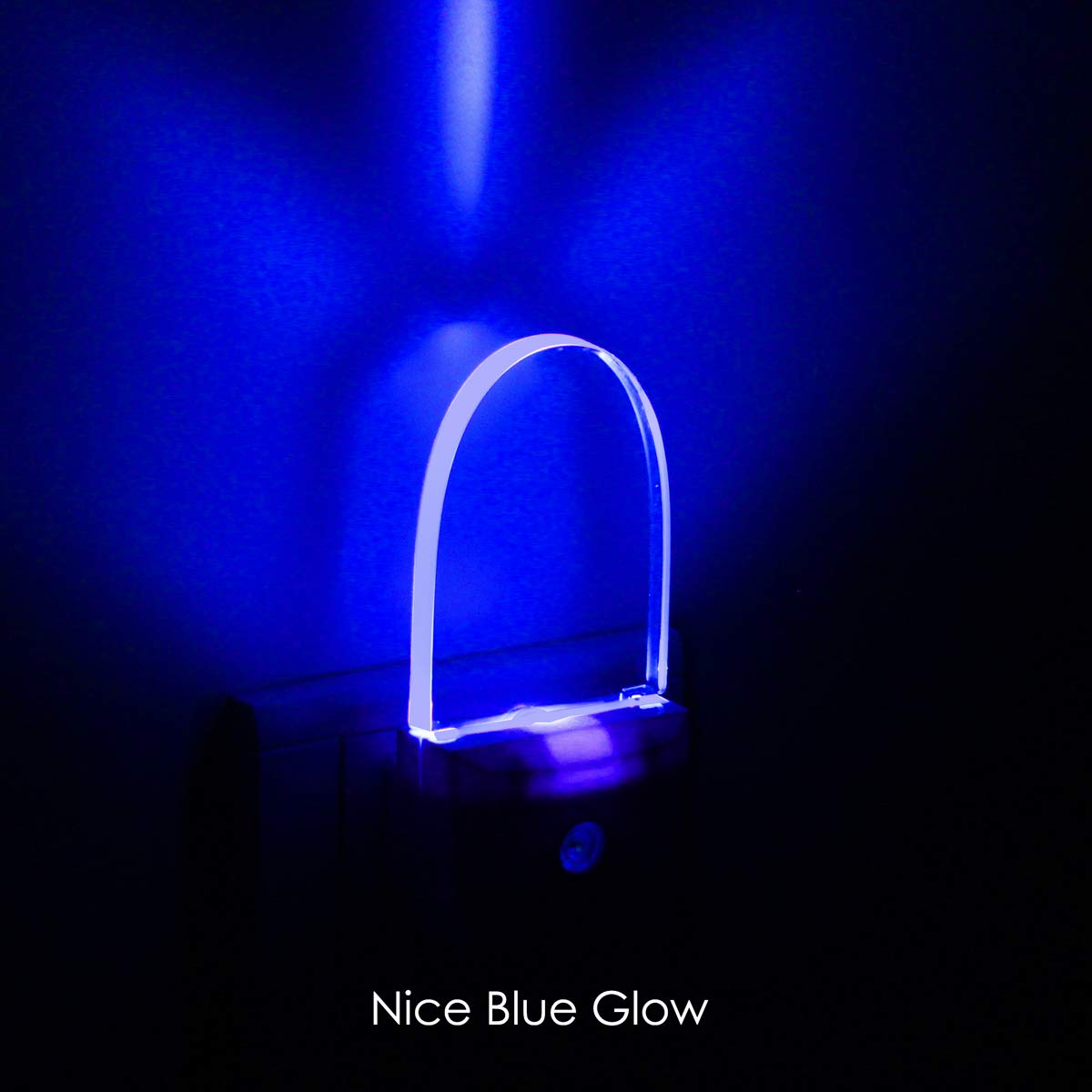 [ Nice Blue Glow ] Plug In LED Night Light with Dusk to Dawn Sensor, Auto ON/OFF, Pack of 2 iAVO