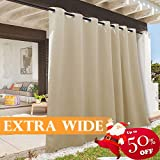 "RYB HOME Indoor Outdoor Blackout Curtains Add a Touch of Seasonal Color for Your Home Decor.DETAIL INFORMATIONSold as 1 panel only, measuring 52"" & 100"" width, available in 84"", 95"" 108"" 120"" length.Each curtain panel with 8 silver grommets (inner di..."