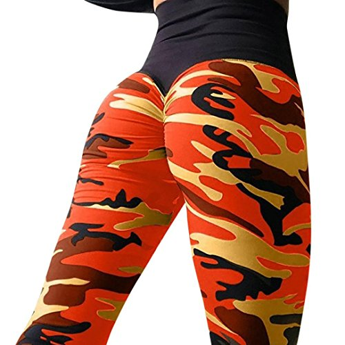 (FEITONG Women's Camo Workout Leggings Fitness Sports Gym Running Yoga Athletic)