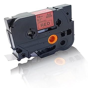 Premium kompatible Schriftband für Brother TZE441 Schwarz auf Rot 18mm Drucker P