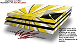WraptorSkinz PS4 Pro Skin Rising Sun Japanese Flag Yellow - Decal Style Skin Wrap fits Sony PlayStation 4 Pro Console