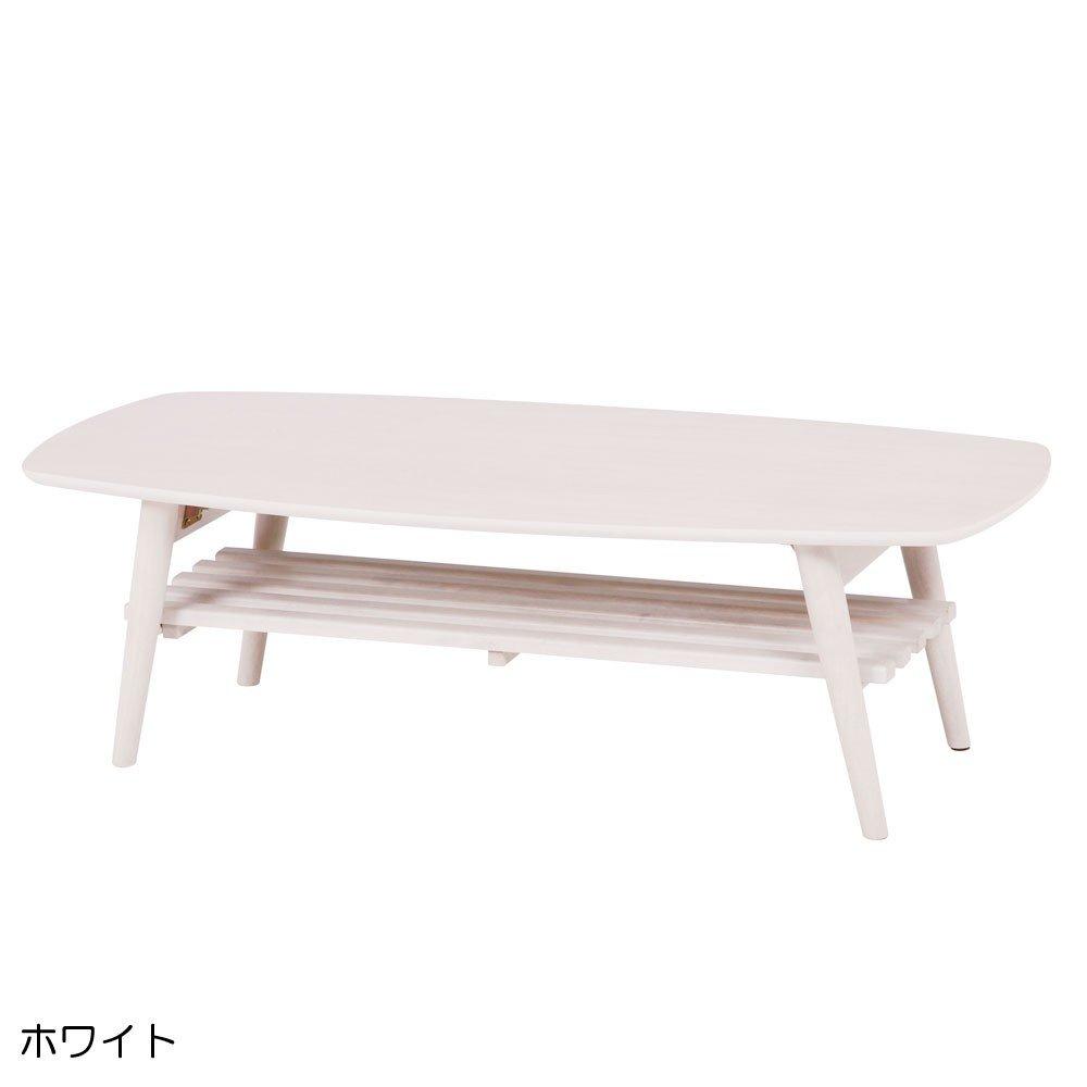 インテリア リビング 家具 四角 座卓 折りたたみ式 たためる から 収納 も ラクラク 折れ脚テーブル ホワイト B00TEPAX7M