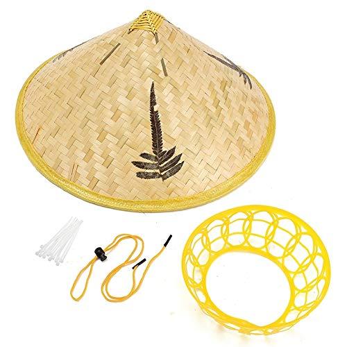 NASHINAL Tourism Rain Gear Handmade Bamboo Woven Hat