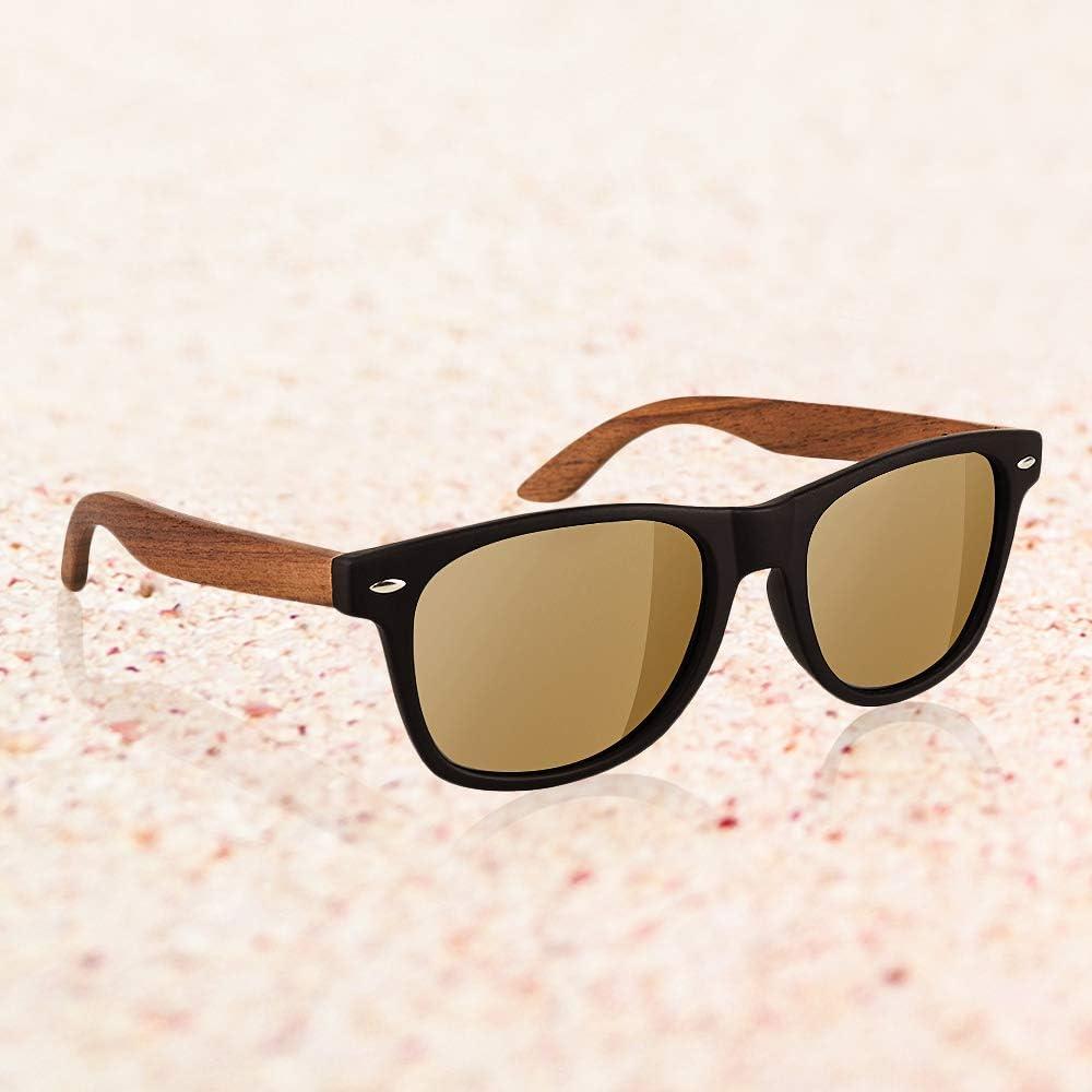 Souljewelry Occhiali da sole personalizzati per uomini donne occhiali da sole in legno polarizzati con nome personalizzato con scatola Blocco UV al 100% Color 11