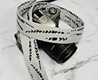 Grey and Plum Feathers - dSLR Camera Strap