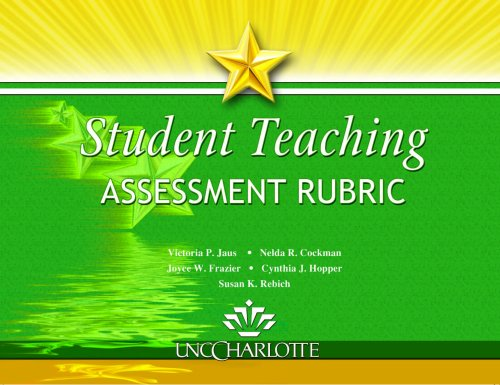 Student Teaching Assessment Rubric Text