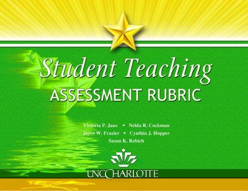 Student Teaching Assessment Rubric Text
