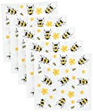 Paperproducts Design 1251948 Beverage/Cocktail Dancing Bumble Bees Paper Napkins (20 Pack), Multicolor