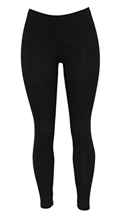 6bed66f6ae4dc Sister Amy Women's Solid Color Soft Hight Waist Ankle Length Basic Low  Waist Leggings Black S
