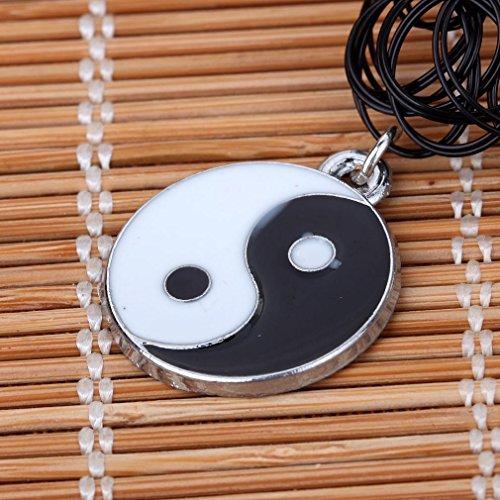 Yazilind noir ¨¦tendue Tatouage au henn¨¦ foulard hippie Huit Diagrammes collier pendentif 6pcs gros ¨¦lastiques