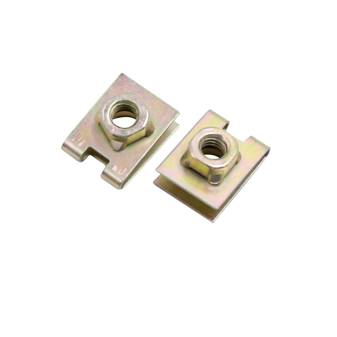 50Pcs 5mm Hole Metal Screw Fastener Door Pannel U-Type Clips Rivets for Auto Car