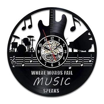 amazon music quotes art gift circle vinyl wall clock art home decor