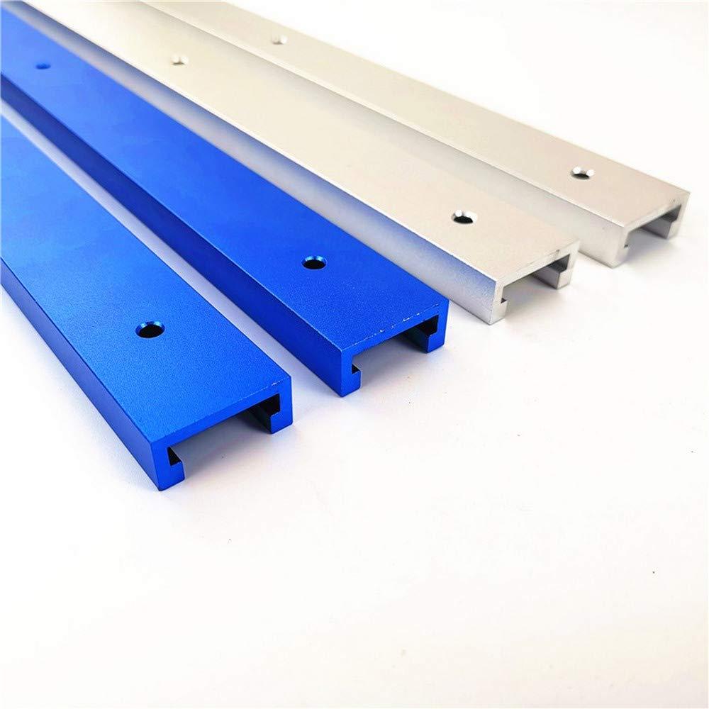 Aleaci/ón de aluminio T-Track T-lot Track para madera o router sierra de mesa color 800MM T-Track 2 unidad