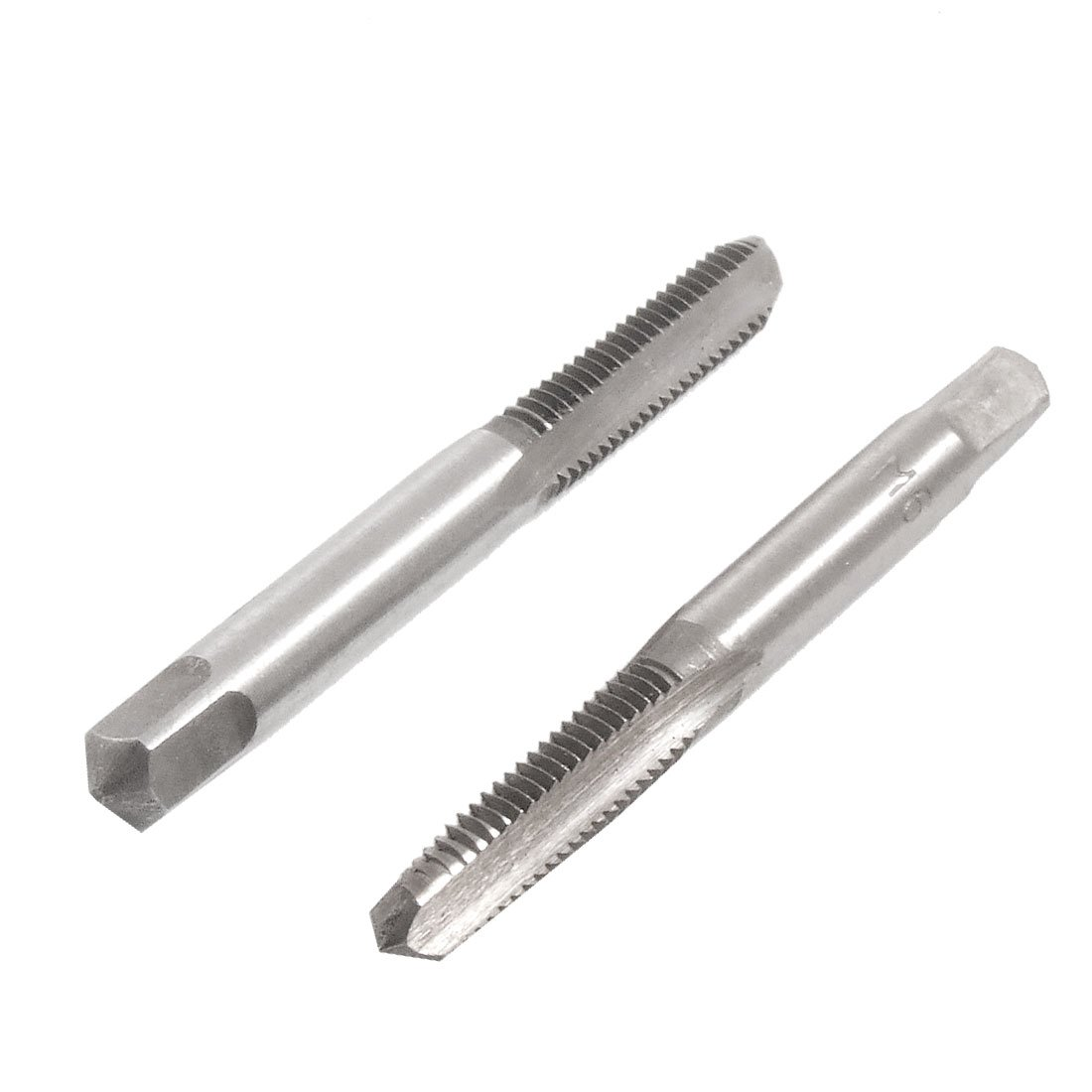 sourcingmap® Pair Round Shank HSS 6mm Dia Threaded Straight Flutes Hand Taps a12050400ux0812