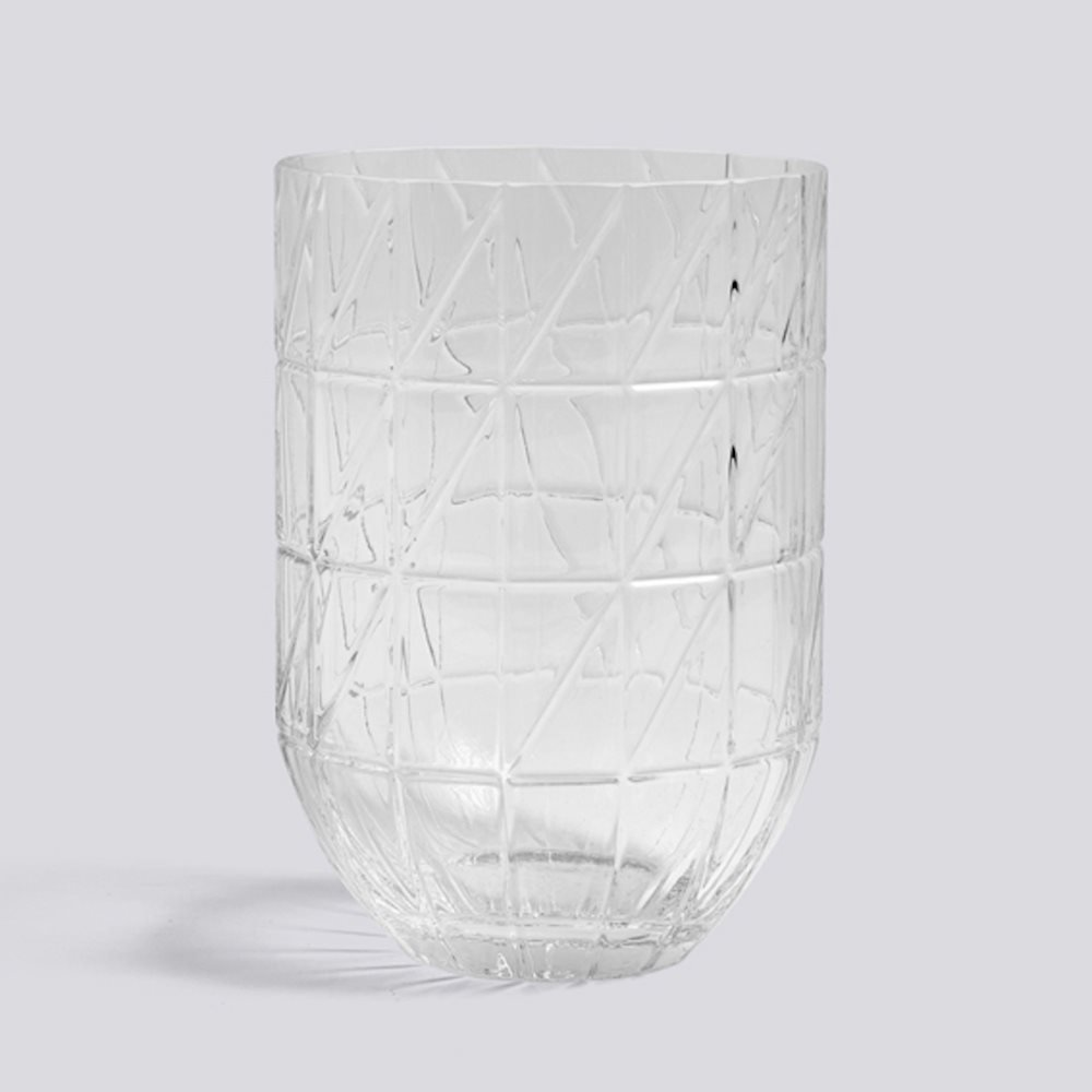 HAY - Colour Vase Glasvase, L, transparent transparent transparent B01N42B5RH Vasen fb1941