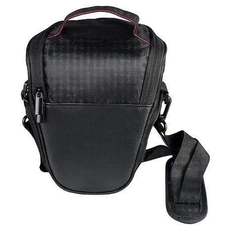 Bolsa Camara De Cuero Funda Triángulo Negro Para Nikon D5100 D3100 D80 D90 D40 X