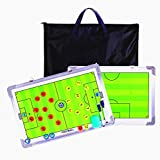 CHSEEA Double-Sided Magnetic Football Coach Board With Dry Eraser, Marker Pen, Magnets and Free Carry Bag - Football Soccer Tactic Board Strategy Clipboard Kit #1