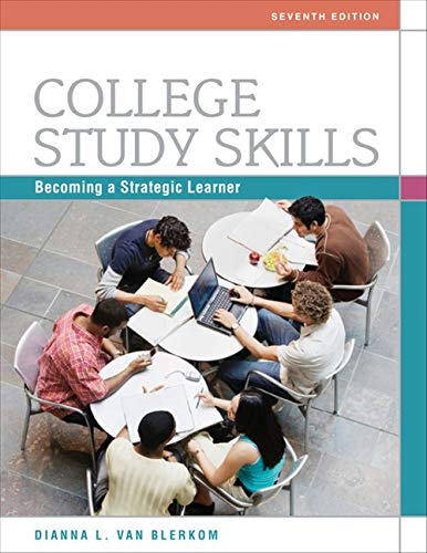 College Study Skills: Becoming a Strategic Learner from Brand: Cengage Learning
