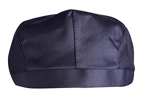Nanxson(TM 3pcs Chef Flat Beret Pastry Baker Kitchen Summer Mesh Cooking Works Uniforms Chef Hat Adults CF9021 (Black3) by Nanxson (Image #1)