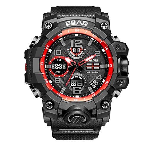 Clearance Sale!DEESEE(TM)SBAO Sport Watch Men Digital LED Electronic Watches TPU Quartz Wristwatches (C)
