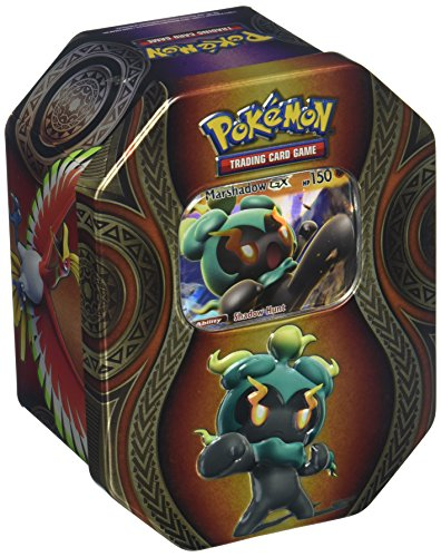 Pokemon TCG: Mysterious Powers Marshadow-GX Tin Collectible Trading Card Set 4 Booster Packs, 1 Ultra Rare Foil Promo Card, Online Code Card ()