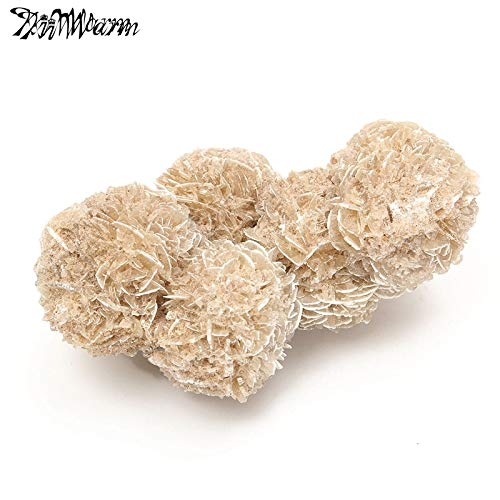 RedRiver Decorative Stones - Kiwarm 100G Natural Desert Rose Selenite Crystal Stone Flower for Healing Home Table Fish Tank Ornaments Decor Stone Crafts