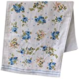 Lx10tqy Fashion Flower Print Soft Cotton Face Towel Quick Dry Towel for Adults Kids - Blue