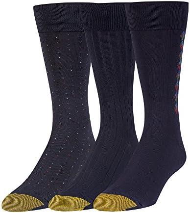Gold Toe mens Dress Crew Socks, 3 Pairs