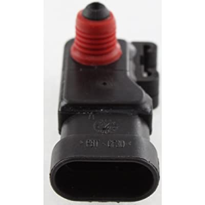 MAP Sensor compatible with Chevrolet Corvette 97-08 / Malibu 04-07 Post Type 3-Prong Male Terminal: Automotive