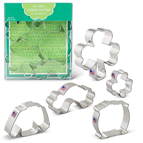 St. Patrick's Day Cookie Cutters - 5 Piece Boxed Set - 2 5/8