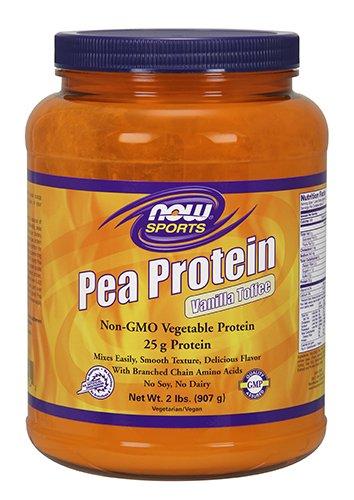 NOW Sports Pea Protein Vanilla Toffee Powder, (2000 Protein)