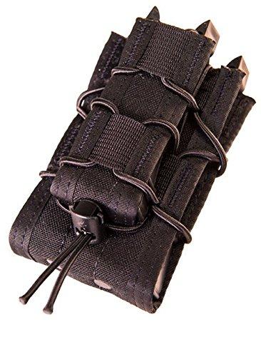 - High Speed Gear HSGI Belt Mount Double Decker Taco Mag Pouch, Color Black