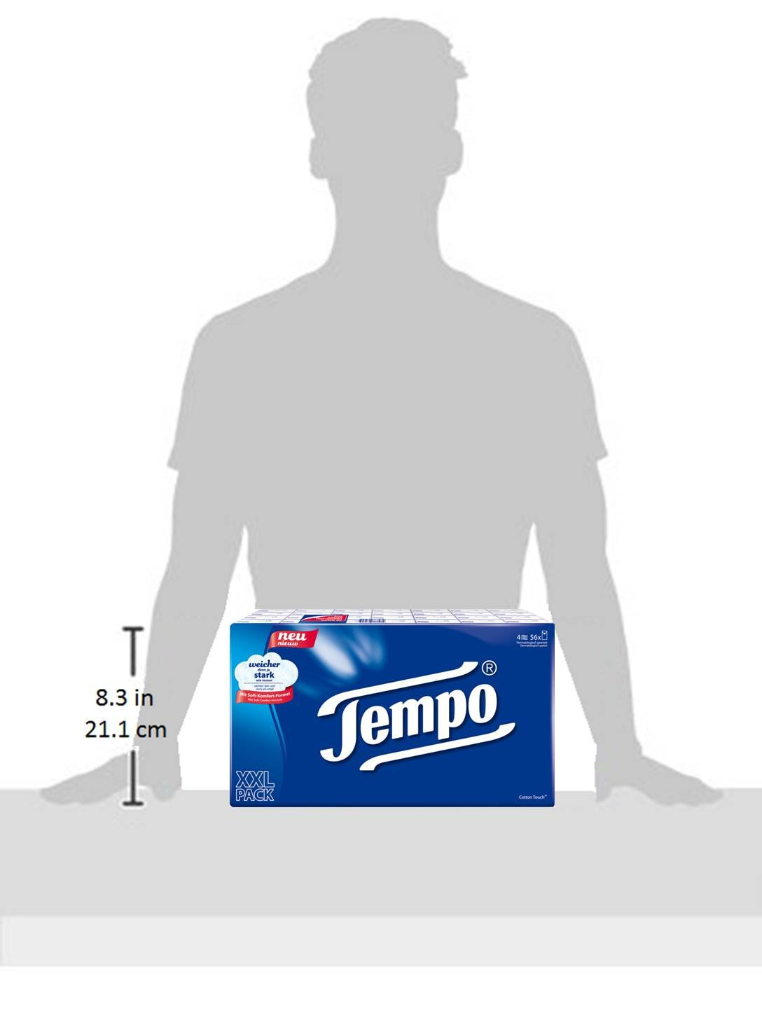 Tempo Classic Tissues 56 x 10 Tissues, (56 Packs) by Tempo