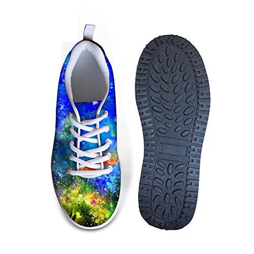 for Fashion Ups Fitness Platform Colorful Sneakers HUGSIDEA Colorful Mesh 12 Women Shape d18Taxn