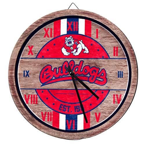 Fresno State Bulldogs NCAA Barrel Wall Clock