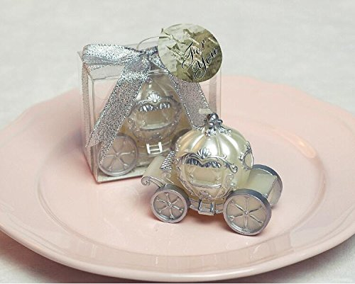 Creative Pumpkin Carriage Smokeless Candle birthday Candle for wedding & Baby Shower Favors (White) (Baby Carriage Candle)