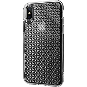 Silk iPhone X Clear Case - PUREVIEW Protective Slim iPhone 10 Grip Cover -  Queen of Diamonds - Crystal Clear 25ba594178037
