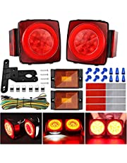 Kohree 2019 New 12V Led Trailer Light Kit, Boat Submersible Trailer Tail Light Utility Led Trailer Lights and Wiring Kit for Camper Truck RV Marine Snowmobile Boat Under 80 Inch, IP68 Waterproof
