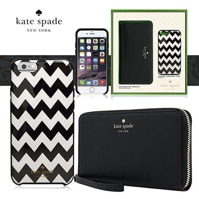 Kate Spade Iphone 6/6s Set Hybrid Hardshell Case & Zip Wristlet, Black & White