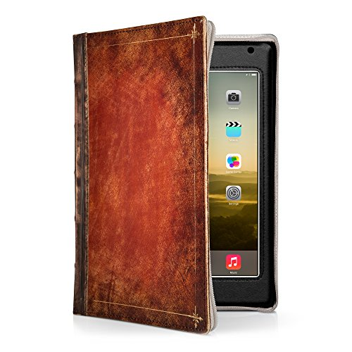 Twelve South Rutledge BookBook for iPad Mini 4 | Artisan Leather Book case and Display Stand for iPad Mini (1st– 4th gen.)