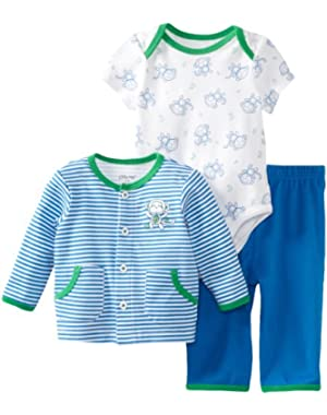 Baby-boys Newborn Blue Monkey Take Me Home Set