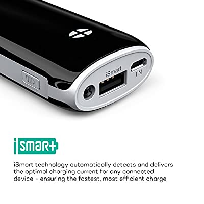 RAVPower Luster 6000mah Backup External Battery Pack Power Bank Charger iSmart(tm) Broad Compatibility. For iPhone 5s, 5c, 5, 4s, 4, iPod, iPad Air, Mini2 (Apple Adapter Not Provided); Samsung Galaxy S4, S3, S2, Note3, Note 2; Nexus 5, Nexus 4, HTC One, E