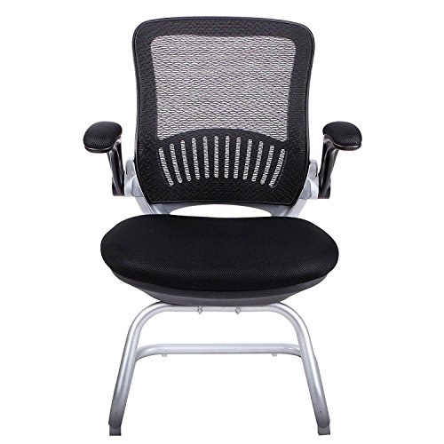 H&L Office Mesh Back Guest/Reception Chair with Adjustable Armrest by H&L Office