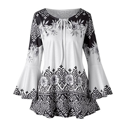 iOPQO Sweater for Women, Fashion Plus Size Printed Flare Blouses T-Shirt by iOPQO