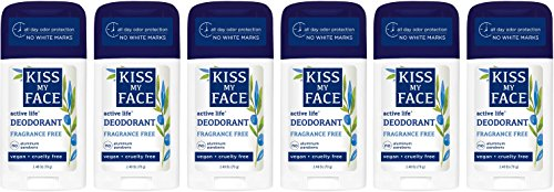 Active Life Deodorant - Kiss My Face Active Life Aluminum Free Deodorant, Fragrance Free, 2.48 Ounce Stick (Pack of 6)