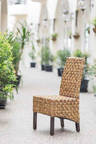 International Caravan Furniture Piece Victor Woven Abaca Dining Chair