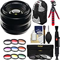 Fujifilm 35mm f/1.4 XF R Lens with 3 UV/CPL/ND8 & Colored Filters + Backpack + Tripod + Kit