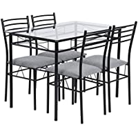 Warmcentre 5 Piece Table & Chair Set,Dining Kitchen Table...